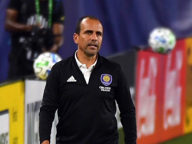 Orlando City head coach Oscar Pareja during the second half against the Nashville SC at Nissan Stadium in September 2020