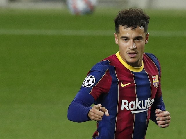 Barcelona midfielder Philippe Coutinho pictured in October 2020