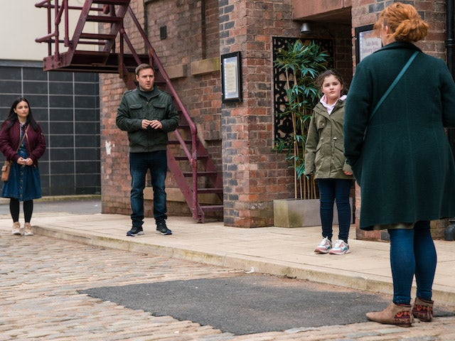 Tyrone and Fiz on the second episode of Coronation Street on April 26, 2021