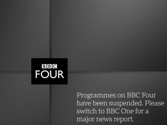 BBC Four on-screen message after Prince Philip's death