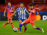 FC Porto's Marko Grujic in action with Chelsea's Jorginho in the Champions League on April 7, 2021