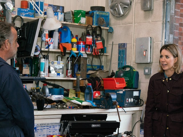 Kevin and Abi on the second episode of Coronation Street on April 28, 2021