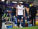 Tottenham Hotspur's Harry Kane limps off injured against Everton on April 16, 2021