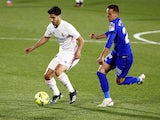 Real Madrid's Marco Asensio in action against Getafe on April 18, 2021