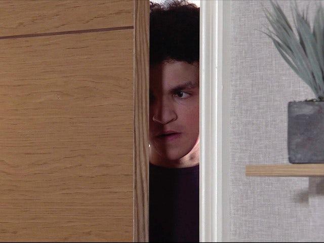 Simon on the first episode of Coronation Street on April 30, 2021