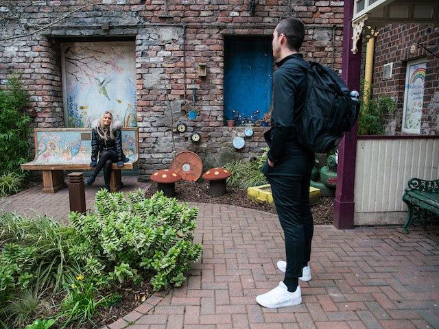 Kelly and Corey on the second episode of Coronation Street on April 30, 2021
