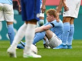 Manchester City's Kevin De Bruyne pictured in action against Chelsea in the FA Cup on April 17, 2021