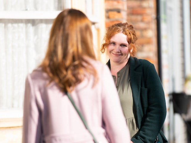Fiz on the second episode of Coronation Street on April 26, 2021