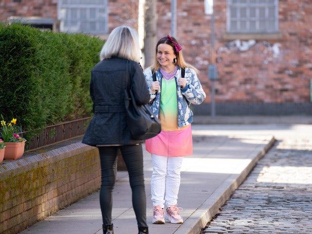 Gemma on the second episode of Coronation Street on April 26, 2021
