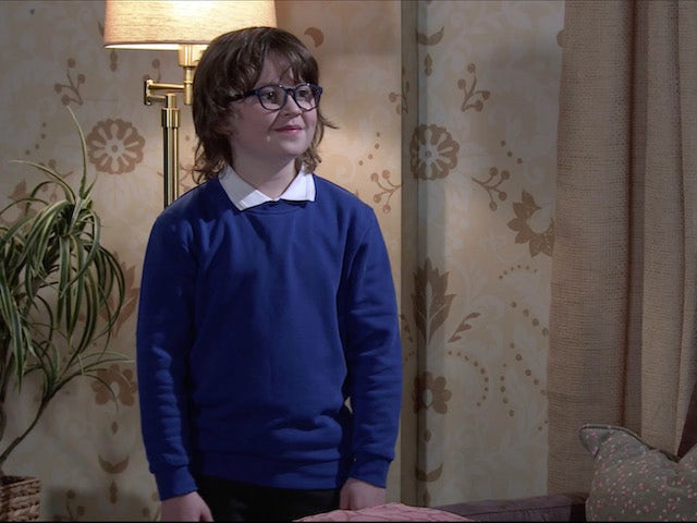 Sam on the second episode of Coronation Street on April 28, 2021