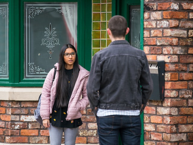 Asha on the second episode of Coronation Street on April 26, 2021