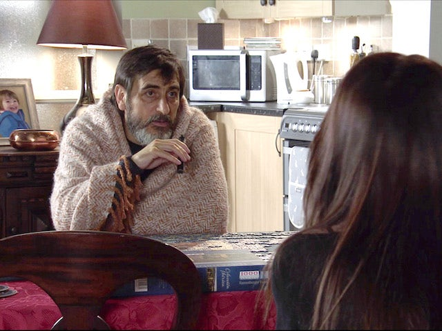 Peter on the second episode of Coronation Street on April 28, 2021