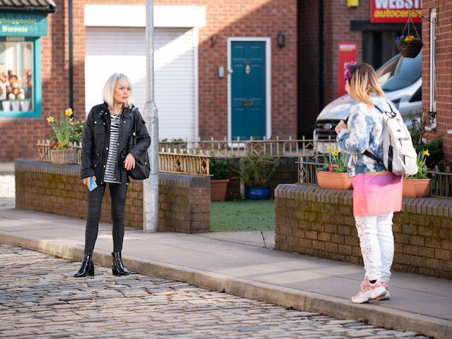 Sharon on the second episode of Coronation Street on April 26, 2021