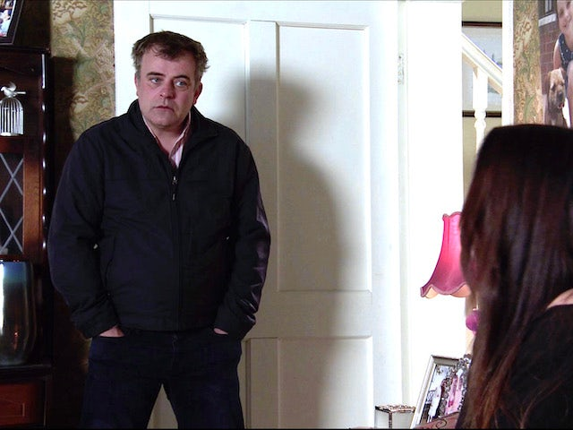 Steve on the second episode of Coronation Street on April 28, 2021