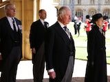 Prince Philip's children attend his funeral on April 17, 2021