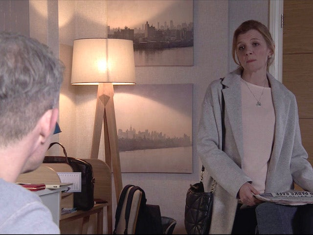 Nick and Leanne on the first episode of Coronation Street on April 30, 2021