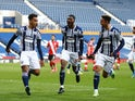West Bromwich Albion's Matheus Pereira celebrates scoring their first goal against Southampton in the Premier League on April 12, 2021