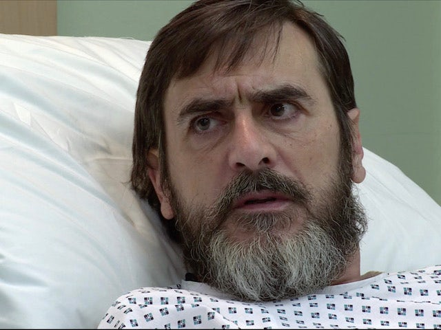 Peter on the first episode of Coronation Street on April 30, 2021