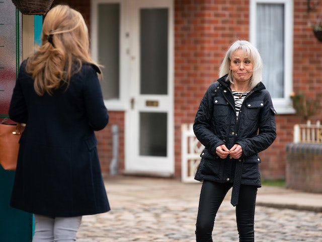 Sharon on the second episode of Coronation Street on April 30, 2021