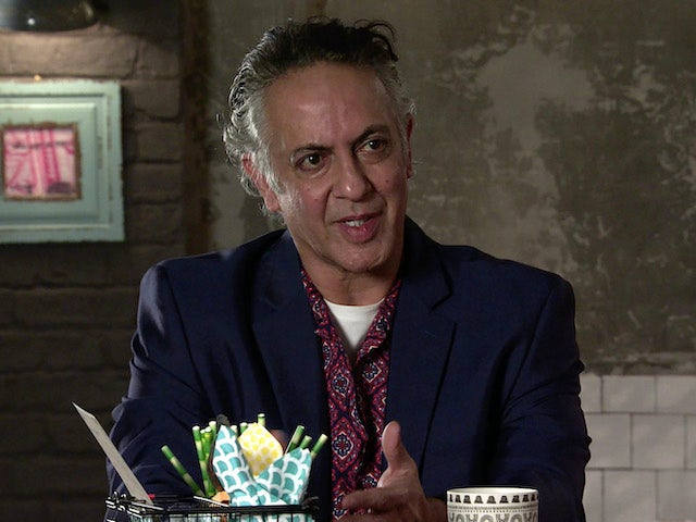 Dev on the first episode of Coronation Street on April 26, 2021
