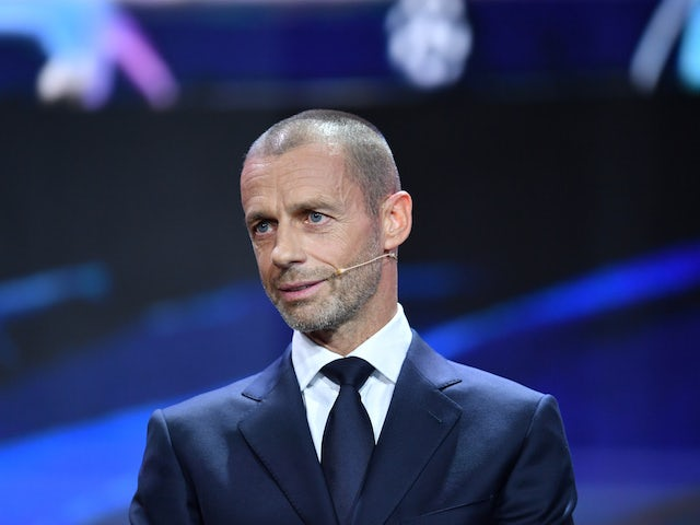 UEFA President Aleksander Ceferin during the draw in October 2020