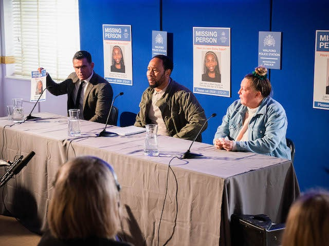 Jack, Mitch and Karen on EastEnders on May 6, 2021