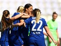 Chelsea Women celebrate on March 31, 2021