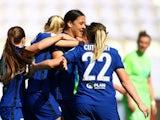 Chelsea Women celebrate on March 31, 2021