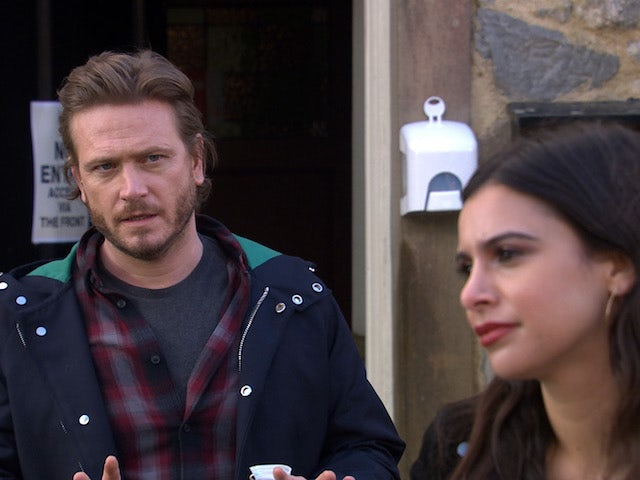 David and Meena on Emmerdale on May 4, 2021