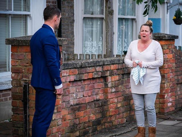 Jack and Karen on EastEnders on May 4, 2021