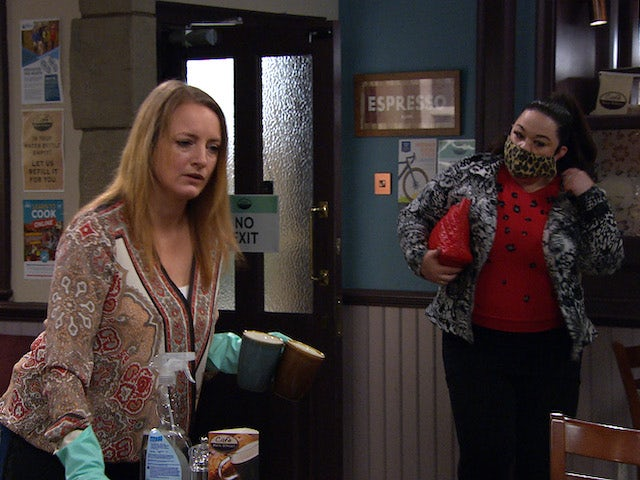 Nicola and Mandy on the second episode of Emmerdale on May 6, 2021