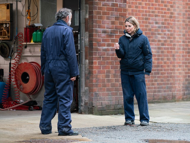 Kevin and Abi on the first episode of Coronation Street on May 3, 2021