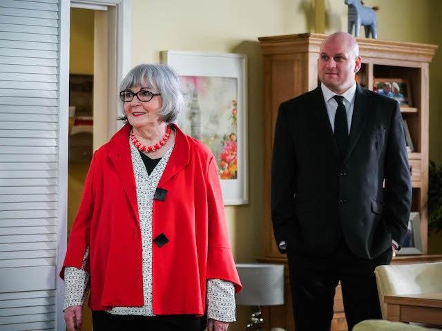 Vi and Stuart on EastEnders on May 3, 2021