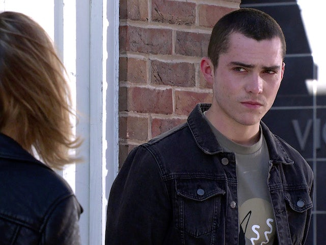 Corey on the second episode of Coronation Street on May 7, 2021