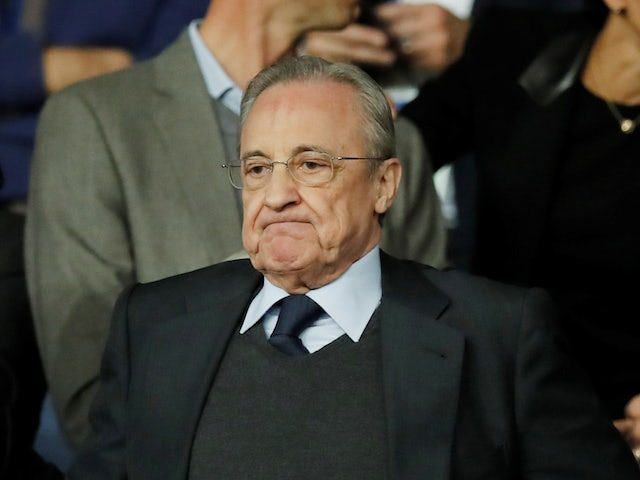 Real Madrid president Florentino Perez pictured in September 2019