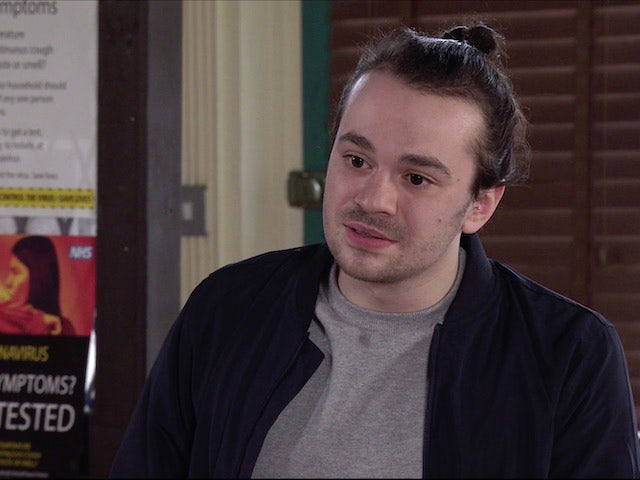 Seb on the first episode of Coronation Street on May 5, 2021