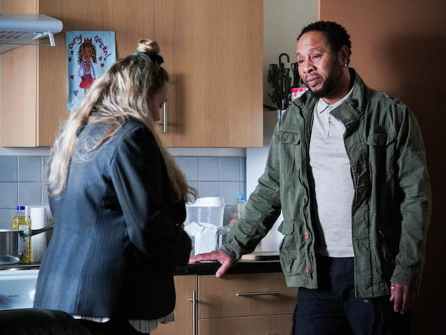 Mitch and Karen on EastEnders on May 6, 2021