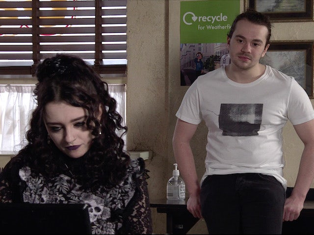 Nina and Seb on the first episode of Coronation Street on May 3, 2021
