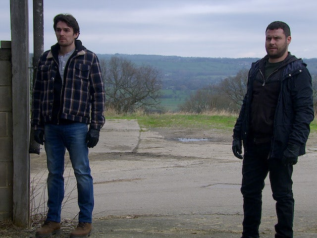 Mack and Aaron on Emmerdale on May 3, 2021