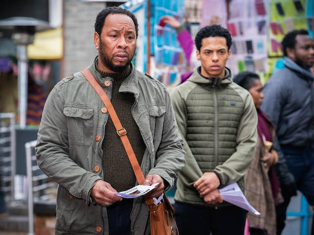 Mitch and Keegan on EastEnders on May 3, 2021
