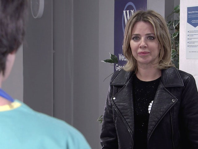 Abi on the second episode of Coronation Street on May 7, 2021