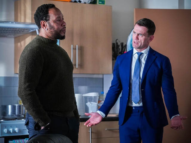 Mitch and Jack on EastEnders on May 3, 2021