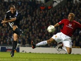 Ronaldo scores for Real Madrid against Manchester United in the Champions League on April 23, 2003