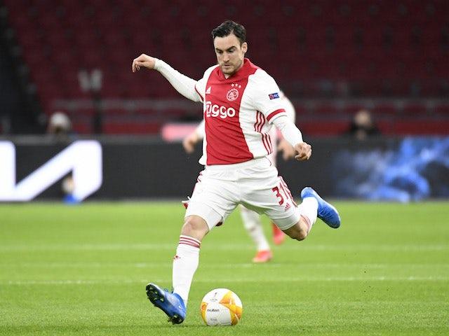 Ajax's Nicolas Tagliafico in action in March 2021