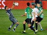 Real Betis' Claudio Bravo in action against Real Madrid in La Liga on April 24, 2021