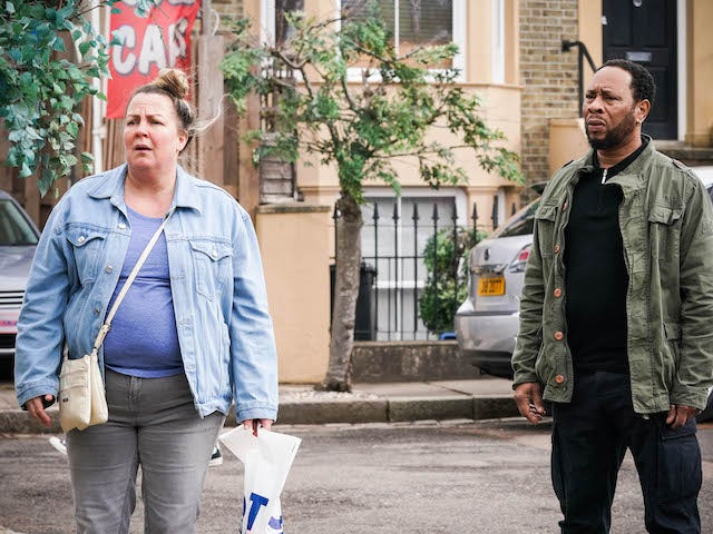 Mitch and Karen on EastEnders on May 7, 2021