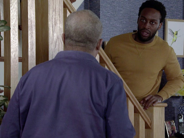 Michael on the first episode of Coronation Street on May 12, 2021
