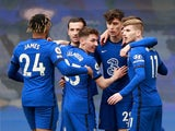 Chelsea's Kai Havertz celebrates scoring their first goal against Fulham in the Premier League on May 1, 2021