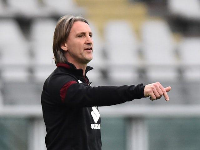 Torino head coach Davide Nicola pictured on April 3, 2021