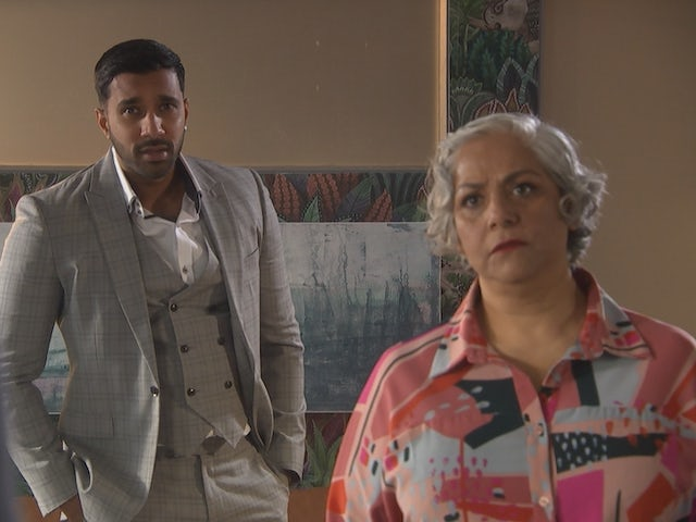 Sami and Misbah on Hollyoaks on May 7, 2021